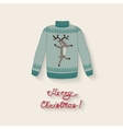 cute sweater with Christmas deer vector image
