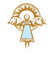 Halo Angel vector image