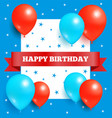 happy birthday poster frame and birthdays greeting vector image