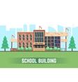 School building flat education concept vector image