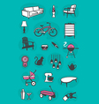 Set of Retro Home Icons vector image
