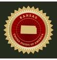 Star label Kansas vector image