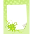 Paper and flowers vector image vector image