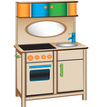 Toy kitchen vector image