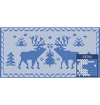 North khitted pattern with deers vector image