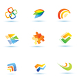 abstract icons set vector image vector image