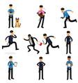 policeman characters doing their job set vector image