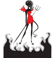 devil fire vector image