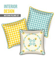 Set of decorative pillow vector image vector image