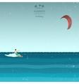 Kitesurfing in retro style vector image