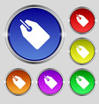 Web stickers tags and banners icon sign Round vector image