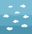 Sky pixel art vector image vector image
