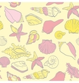 seamless hand drawn background underwater tropical vector image vector image