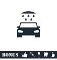 Car wash icon flat vector image