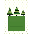 Christmas card template New Year vector image