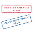 diabetes friendly food textile stamps vector image