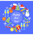 flat style of christmas greetings Template for vector image