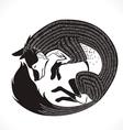 fox sleep vector image