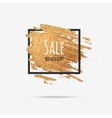 Gold sale background in frame vector image