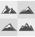Mountain gray icons with black shadow vector image