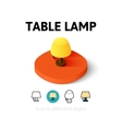 Table lamp icon in different style vector image