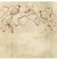 grungy valentine vector image