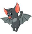 bat cartoon waving vector image