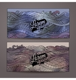 Abstract decorative waves ornamental backgrounds vector image