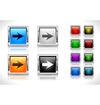 buttons for web design vector image vector image