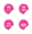 sticker of shopping vector image