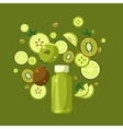 Ingredients For Green Smoothie vector image
