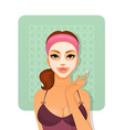 Beautiful woman with face-mask vector image