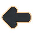 Blackboard shaped as arrow vector image