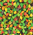 Different leaf collection seamless background vector image