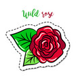fashion patch element rose vector image