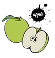 green apple fruit vector image