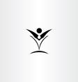 happy people black sign logo icon vector image