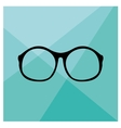 Nerd glasses on wrapping surface background vector image