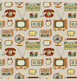 retro electronics pattern vector image