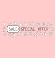 sale special offer horizontal banner background vector image