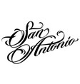san antonio tattoo lettering vector image