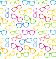 Seamless Texture with Colorful Eyeglasses vector image