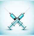 Two medical syringe vector image