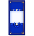 Greeting card blue vector image vector image