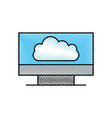 cloud computer monitor device technology wireless vector image