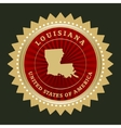 Star label Louisiana vector image vector image
