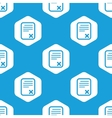 Declined document hexagon pattern vector image