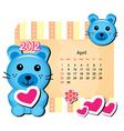 april bunny calendar vector image vector image