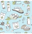 Spa beauty and care seamless pattern vector image