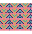 Vintage seamless pattern with triangles and pixels vector image